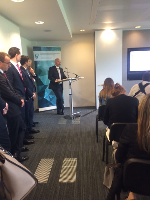 Activate Capital Launch, July 2015: Fergal McAleavey, Head of Private Equity Investments for ISIF addresses the attending media & guests