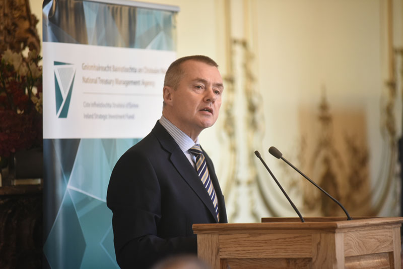Market Engagement Event, Irish Embassy London, November 2015: Willie Walsh, Chairperson of the NTMA addressing attending guests
