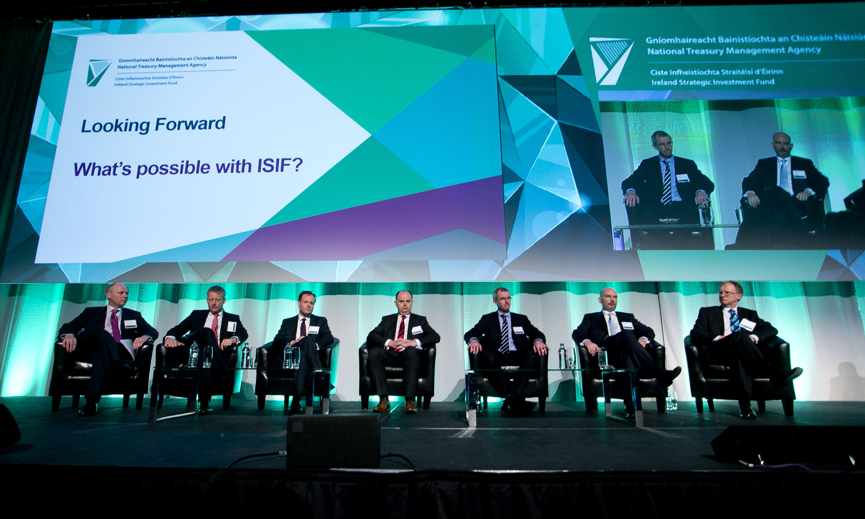 ISIF Market Engagement Event, April 2016, ISIF Team on stage