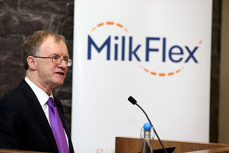Glanbia Milkflex Fund Launch, March 2016: ISIF Director, Eugene O'Callaghan addresses attending media & guests
